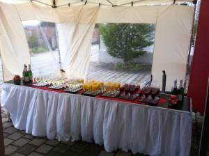 Reichhaltiger Sektempfang für die Kleinen und Großen Gäste