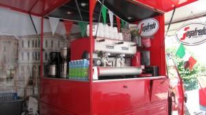 Blick auf die Espressobar