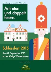Schloßfest Königs Wusterhausen 2015 - Plakat